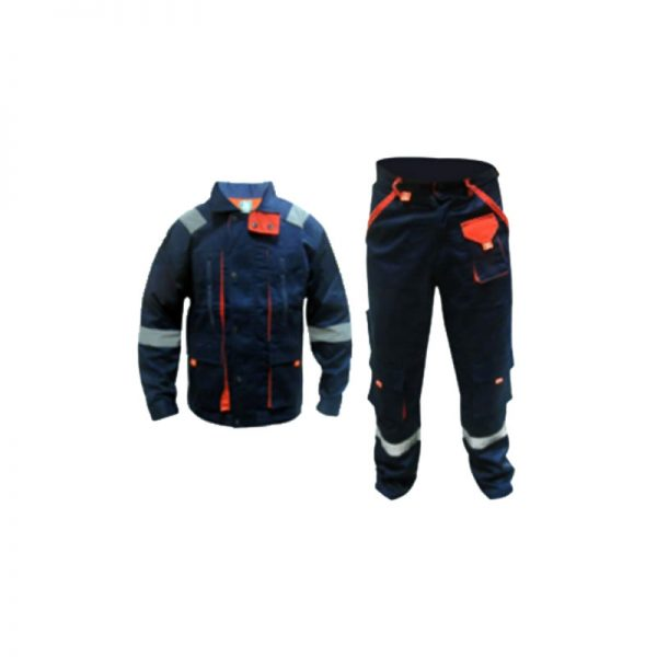 COVERALL SHIRT & PANT WITH REFLECTOR EUROPEAN STYLE