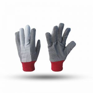 COTTON DOTTED GLOVES 10 OZ