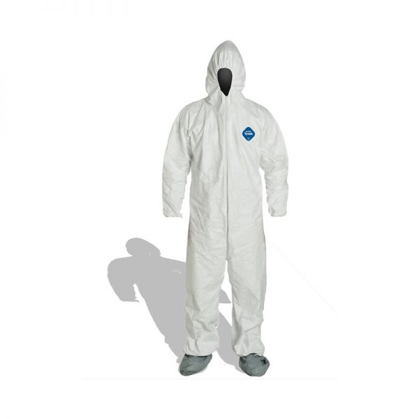 DUPONT TYVEK COVERALLS DISPOSABLE WHITE