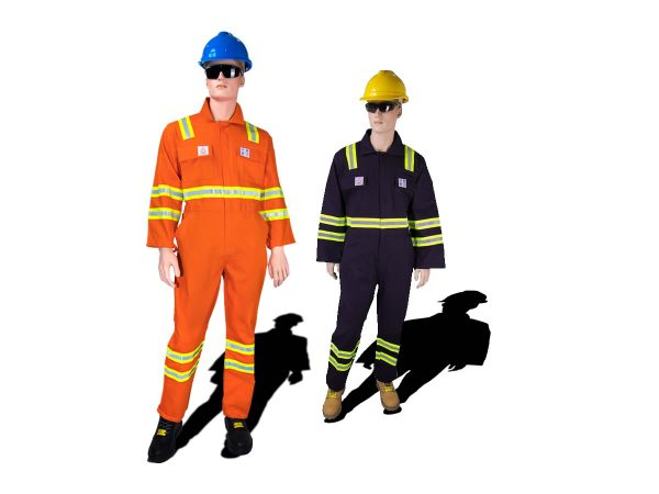 FIRE RETARDANT COVERALL WITH REFLECTOR