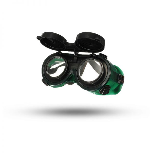 FULL COVER WELDING GOGGLES FLIP UP GREEN (CHN)