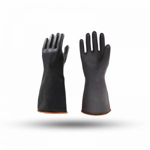 GLOVES RUBBER BLACK 13″ 100G