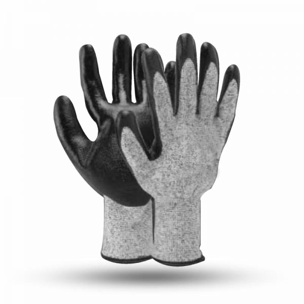 NON CUT LEVEL 5 NITRILE COATED GLOVES