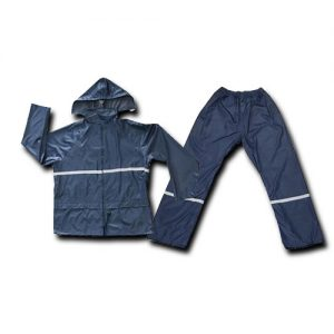RAIN SUIT POLY WITH REFLECTOR NAVY