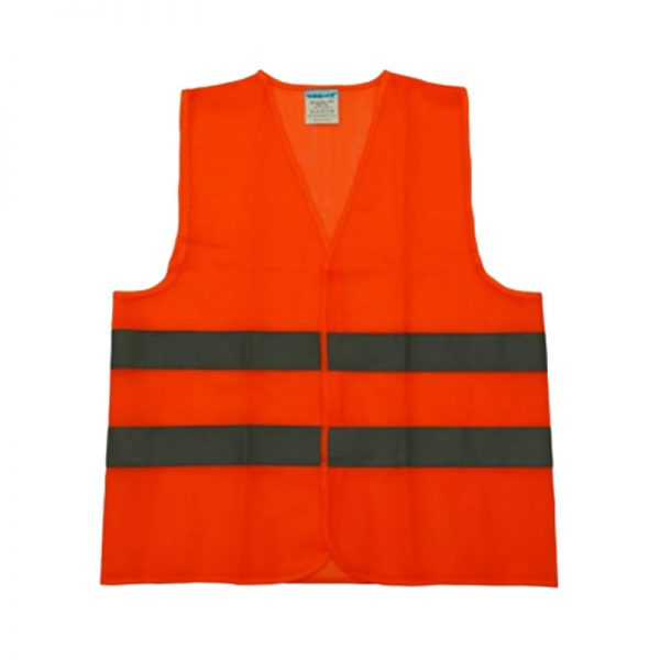 SAFETY REFLECTIVE VEST SAFE-STEP 100GSM 2LINE ECOVEST ORANGE