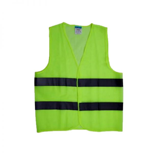 SAFETY REFLECTIVE VEST SAFE-STEP 100GSM 2LINE ECOVEST YELLOW