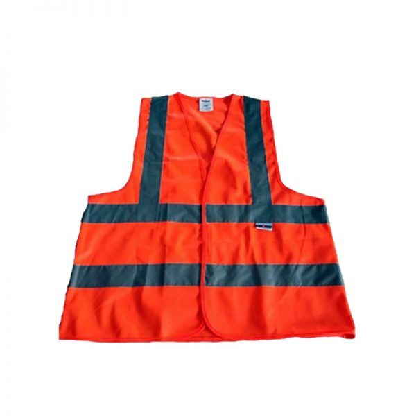 SAFETY REFLECTIVE VEST SAFE-STEP 120GSM 4LINE (LUMOS) ORANGE