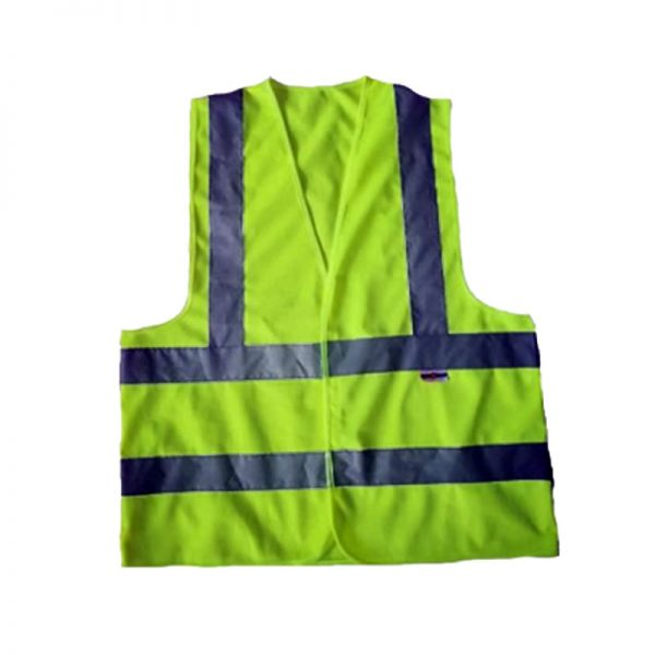 SAFETY REFLECTIVE VEST SAFE-STEP 120GSM 4LINE (LUMOS) YELLOW