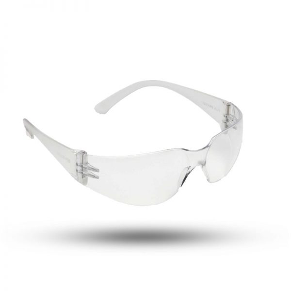 SAFETY GLASSES H/D CLEAR WITH SCRATCH PROOF COATING