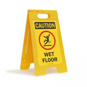 WET FLOOR A SHAPED SIGN BOARD